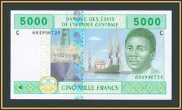 Центрaльная Africa (C - Chad) 5000 Francs 2010-2016 P-609 (609Cc) UNC - Central African Republic