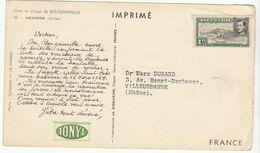"""Imprimé Pub IONYL """"dans Le Sillage De Bougainville""""  Ascension 1955 - 1921-1960: Période Moderne"""