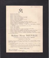 FLEMALLE-HAUTE LIEGE ARENDT Gabrielle épouse Henri NEUVILLE 38 Ans 1941 - Décès