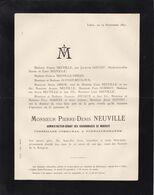 LIEGE FLEMALLE-GRANDE NEUVILLE Pierre-Denis Gérant Charbonnages De MARIHAYE Conseiller Communal 30 Ans 1892 DRION - Décès
