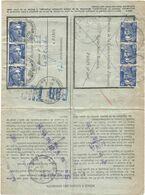 GANDON 15FR BLEU X6 LETTRE PNEUMATIQUE AVEC REPONSE PARIS 16.XII .1952 RARE - 1945-54 Maríanne De Gandon