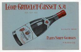 - BUVARD VIN LÉON GRIVELET-CUSSET - NUITS-SAINT-GEORGES - - V