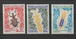 TAAF 1973 Insectes 49-51 3 Val ** MNH - Ungebraucht