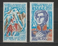 TAAF 1976 Ascension Mont Ross 61-62 2 Val ** MNH - Ungebraucht