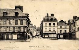 Cp Cormeilles Eure, Rue De Lisieux - Frankreich