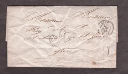 LAC - Mars 1855 - Lyon Pour St Etienne De St Geoirs - Port Dû Taxe 30 - 1849-1876: Klassik