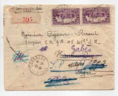 - Lettre Recommandée BOU SAADA (Algérie) Pour ALGER Pour GABÈS 19.9.1939 - A ETUDIER - - Algérie (1924-1962)