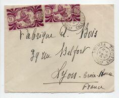 - Lettre NOUMÉA (Nouvelle-Calédonie) Pour LYON (France) 29.4.1946 - Bel Affranchissement Philatélique - - Briefe U. Dokumente
