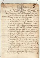 1757 Manuscrit Comte De Houchin Chevalier Marquis Langastre Hanniset Domaine Flandre Orientale De Thiennes Thérèse - Manuscripts