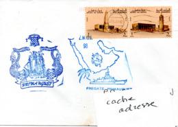 FREGATE PRIMAUGUET Mission ZMOI 98 Obl. Doha (Qatar) 22/04/98 Sur TP Locaux - Poststempel (Briefe)