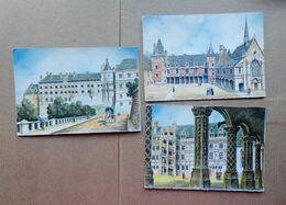 41 - Lot 3 Cartes : Château De  BLOIS Illustré Par BARDAY - Blois