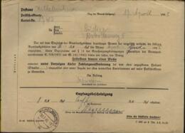 WW II Quittung Rundfunkgebühren: Gebraucht Wilhelmshaven 1945, Bedarfserhaltung. - Germany