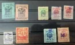 10464 -  Suisse 9 Vignettes Stand De Tir, 2x Vouvry, 2x Bex & 5x Monthey - Old Paper