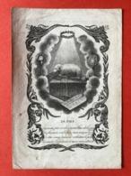 Image Pieuse Anno 1841 - GRAVURE Doodsprentje Décés - ADEL - BARONNE VAN VOORST TOT VOORST CLAUS Deventer - 12 Cm X 8 Cm - Images Religieuses