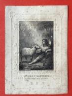 Image Pieuse Anno 1841 - GRAVURE Doodsprentje Décés - CRICKX Bruxelles St. Josse Ten Noode - 10 Cm X 7 Cm - Santini