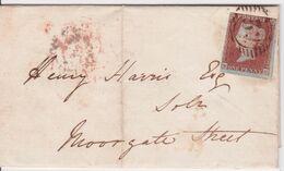 GRANDE BRETAGNE - 3 SUR LETTRE 1851 - Briefe U. Dokumente