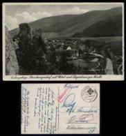 WW II Sudetenland Postkarte , AK Eulengebirge , Steinkunzendorf Hotel Forelle: Gebraucht Steinkunzendorf - Bremen 1940 - Alemania