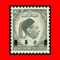 LIBYA - 1955 King Idriss Overprinted (MNH) - Libyen