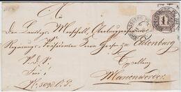 NDP Dienst Mi 4 Nv Preußen K2 Königsberg Ostgebiete Ostpreußen Bf N Marienwerder 1870 - Norddeutscher Postbezirk (Confederazione Germ. Del Nord)