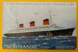 12807 -  Normandie Cie Gle Transatlantique French Line Flamme Mécanique Le Havre-New-york 16.08.1937 - Paquebote