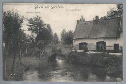 NL.- GROET UIT GEULEM. NIEUWE BAZAR. GEULGEZICHT. 1908. GEULHEM. V/h BERG EN TERBLIJT Nu VALKENBURG. BRUG. - Gruss Aus.../ Gruesse Aus...
