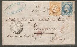 Lettre De 1865 ( France ) - 1849-1850 Ceres