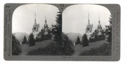 Romania. Sinaia. Rayal Castle And Summer Palace. Stereo Postcard. - Rumänien