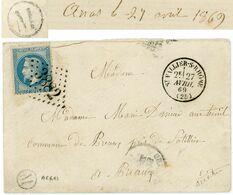 ARDECHE LAC 1869 M = ARRAS ARDECHE BOITE DE DEPARTEMENT LIMITROPHE GC T16 ST VALLIER DROME - 1849-1876: Classic Period