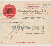 BORDEAUX: REMINGTON STANDARD TYPEWRITER / L. De1913 Pour Pons - Printing & Stationeries