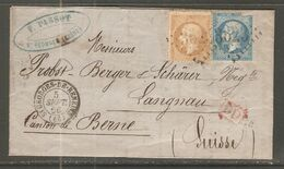 Lettre De 1866 ( France ) - 1863-1870 Napoleone III Con Gli Allori