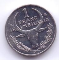 MADAGASCAR 2002: 1 Franc, KM 8 - Madagascar