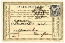 ARDECHE CPP 1877 ANNONAY N°77 SAGE OBLIT T18 - 1877-1920: Semi Modern Period