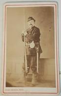 Carte De Visite Jules Monier, Foix, Militaire En Uniforme, Vers 1870 - Photographs