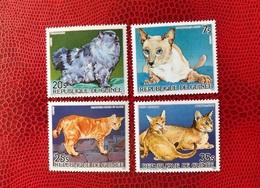 GUINÉE 1985 4 V Neuf MNH ** YT 776 777 778 Aerien PA 186 Chat Cat Gato GUINEA - Gatti