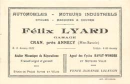 France - 74 - Annecy - Cran - Carte De Visite Automobiles - Cycles - Félix Lyard Garage - Ansichtskarten