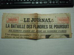 Le JOURNAL Vendredi 24 Mai 1940. N° 17383 La Bataille Des Flandres Se Poursuit. Bataille D'Amiens... - Newspapers