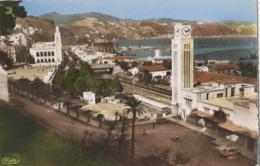 Algérie - Philippeville Constantine - Vue De La Gare Chemin De Fer Et Hôtel De Ville - Editeur Combier - 1957 - Constantine