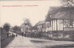61 NEUVILLE Sur TOUCQUES Le Village Des Moulins ,attelage Avec Charette ,enfants Dans La Rue - France