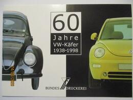 Auto Volkswagen VW Käfer Sonderblatt Der Bundesdruckerei Mit Xx Marken - Auto's