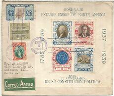 GUATEMALA A USA CC 1936 SELLOS WASHINGTON ROOSEVELT - George Washington