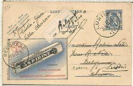 BELGICA ENTERO POSTAL MEDICINA FARMACIA ASPIRINA BAYER 1944 - Pharmazie