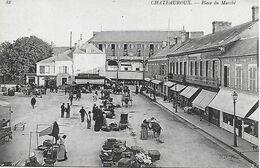 CHATEAUROUX - PLACE DU MARCHE - PLAN RARE - CAFE LEON PAILLAULT - NOUVELLES GALERIES - LA CIVETTE -HOTEL STE CATHERINE - Chateauroux
