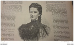1898 SISSI ÉLISABETH DE BAVIÈRE / SAMUEL CHAMPLAIN / BREST /FÊTES DE MOSCOU/ LA FRANCE ILLUSTREE - Books, Magazines, Comics
