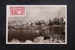 LIBAN - Oblitération De Beyrouth Canons Sur Carte Postale En 1937 - L 69658 - Lettres & Documents