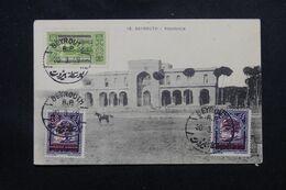 LIBAN - Oblitération De Beyrouth Sur Carte Postale ( Résidence ) En 1929 - L 69661 - Lettres & Documents