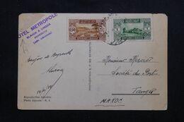 LIBAN - Oblitération De Beyrouth Sur Carte Postale ( Port ) En 1934 Pour La France Avec Cachet Hôtel Métropole - L 69662 - Lettres & Documents