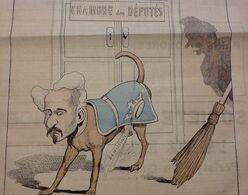 1886 Journal LA JEUNE GARDE - LE ROUBLARD Par BLASS - CHAMBRE DES DÉPUTÉS - DÉMISSION - HENRI ROCHEFORT - Zeitungen