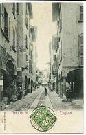 LUGANO Vue D'une Rue Ed.  Stengel & Co 7014 - TI Tessin