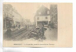 70 - HERICOURT - La Grande-Rue, Pendant La Construction Des Tramways - Andere Gemeenten