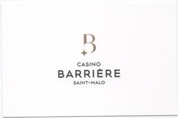 Carte De Visite : Casino Barrière Saint-Malo (Département 35) - Casino Cards